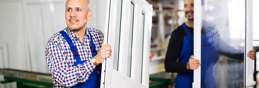 portes d'entrée en aluminium